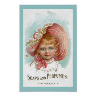 Vintage Soaps and Perfumes Advertisement Poster