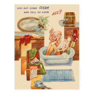 Vintage sobre el cumpleaños de la colina postal