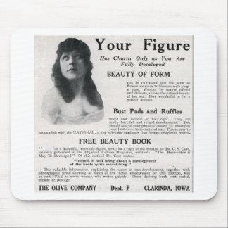"""Vintage """"sobre su figura """" alfombrilla de ratones"""