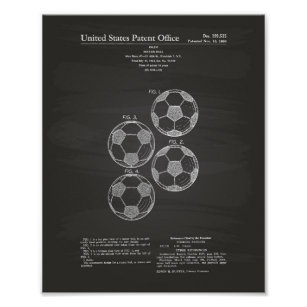 Vintage Soccer Ball 1964 Patent Art
