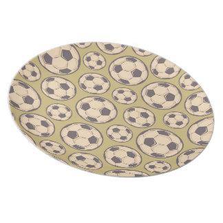 Vintage Soccer Balls Plate
