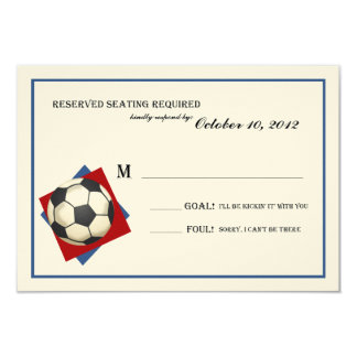 Vintage Soccer Bar Mitzvah Reply on Felt Card