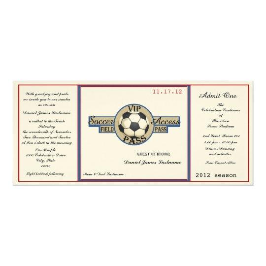 Vintage Soccer Field Pass on Felt Paper Card
