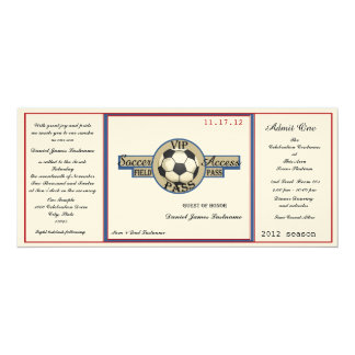 Vintage Soccer Field Pass on Felt Paper Card