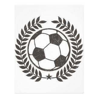 Vintage Soccer Olive Leaf and Star Flyer Design