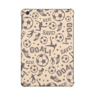 Vintage Soccer Pattern iPad Mini Cases