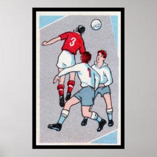Vintage Soccer Print