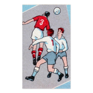 Vintage Soccer Print Double-Sided Standard Business Cards (Pack Of 100)