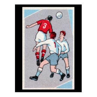 Vintage Soccer Print Postcard