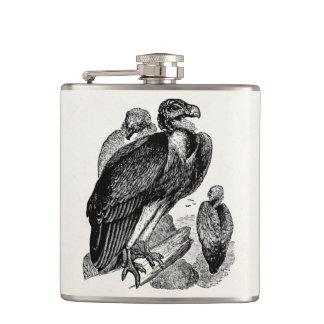 Vintage Sociable Vulture Bird - Vultures Template Flasks