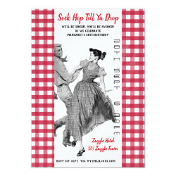 Vintage SOCK HOP Retro BIRTHDAY Invitation 50th