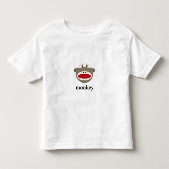 Vintage Sock Monkey with Customizable Text Toddler T-shirt