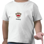 Vintage Sock Monkey with Customizable Text Tshirts