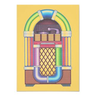 Vintage Sock Record Hop Dance Jukebox on Melon Card