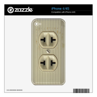 Vintage Socket Decals For The iPhone 4