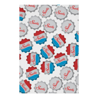Vintage Soda Bottle Cap Poster