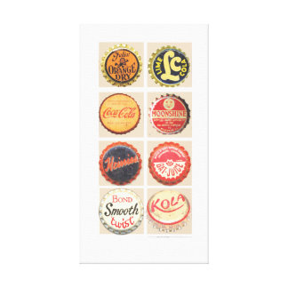 VINTAGE SODA CAPS CANVAS PRINT