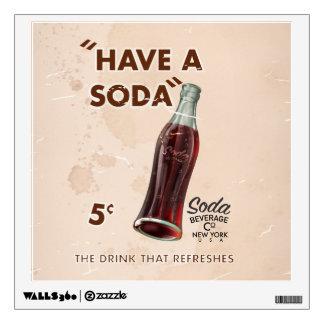 Vintage Soda Poster Wall Sticker