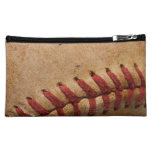 Vintage Softball Close-Up Customized Template Makeup Bag