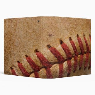 Vintage Softball Close-Up Customized Template Binder