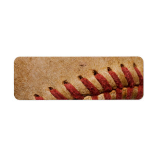 Vintage Softball Close-Up Customized Template Label