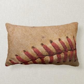 Vintage Softball Close-Up Customized Template Lumbar Pillow