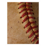 Vintage Softball Close-Up Customized Template Poster