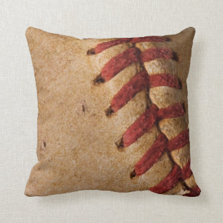 Vintage Softball - Sports Template Softballs Throw Pillow