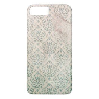 Vintage Soiled and Spoiled Green Floral Wallpaper iPhone 7 Plus Case