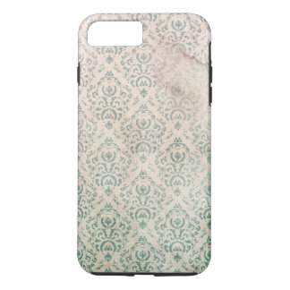 Vintage Soiled and Spoiled Green Floral Wallpaper iPhone 8 Plus/7 Plus Case