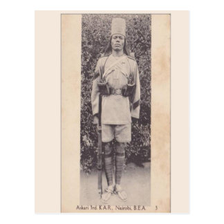 Vintage, soldado de la Commonwealth, Nairobi, Postales