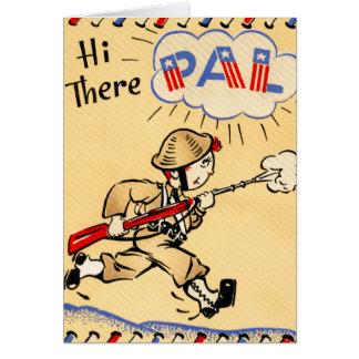 Vintage Soldier Independence Day Card