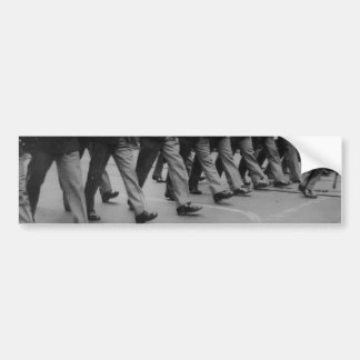 Vintage Soldiers Marching Footsteps Bumpersticker Bumper Sticker