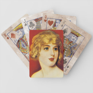 Vintage Song Sheet Art - Goldie Bicycle Playing Cards