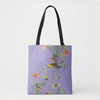 Vintage Songbird Lavender Blue Tote Bag