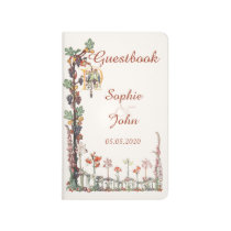 Vintage Songbirds Floral Wedding Guestbook Journal at Zazzle