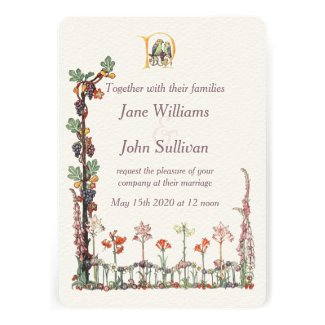 Vintage Songbird Floral themed wedding collection