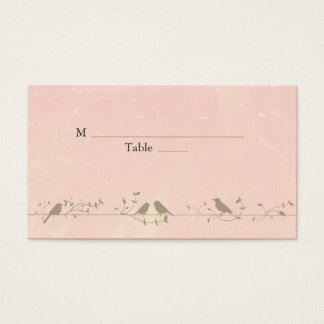 Vintage Songbirds Special Occasion Place Cards