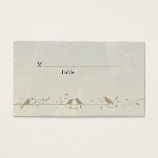 Vintage Songbirds Wedding Place Cards
