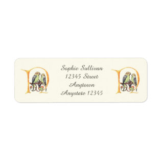 Vintage Songbirds Wild Flowers Label at Zazzle