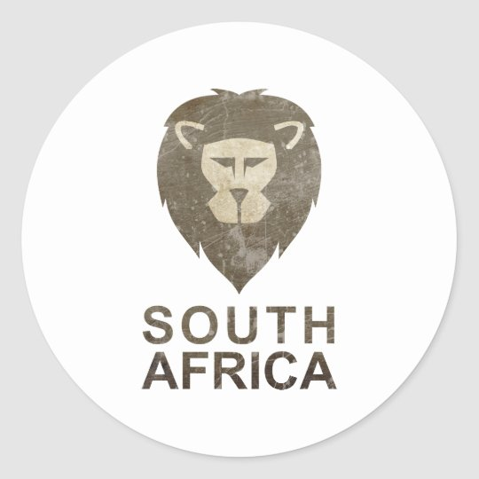 Vintage South Africa Classic Round Sticker