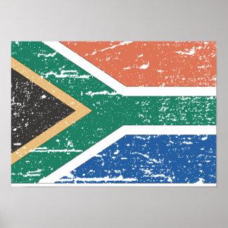 Vintage South Africa Flag Poster
