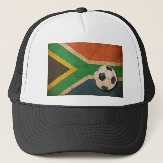 Vintage South Africa Football Trucker Hat