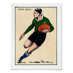 857372aa8e0 Vintage South African Rugby - Print