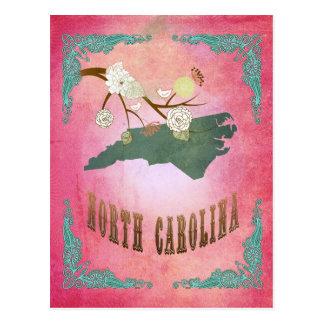 Vintage South Carolina State Map- Candy Pink Postcards