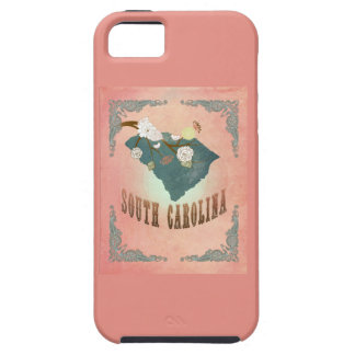 Vintage South Carolina State Map- Pastel Peach iPhone 5 Covers