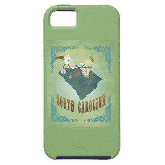 Vintage South Carolina State Map – Sage Green iPhone 5 Covers