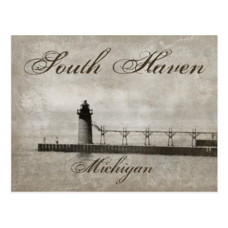 Vintage South Haven Michigan Lighthouse Postcard