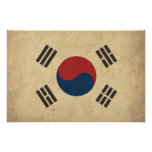 Vintage South Korea Flag Posters