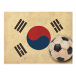 Vintage South Korea Football Postcard